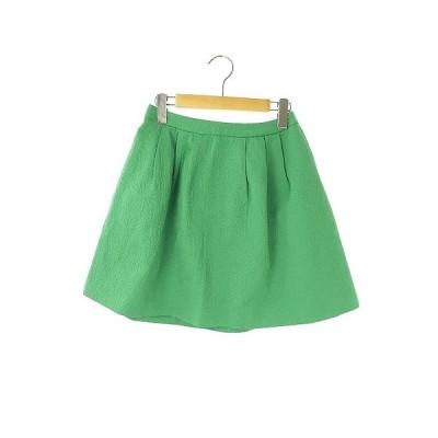 【中古】チェスティ Chesty スカート フレア タック ミニ 花柄 1 緑 /AA ■OSW レディース 【ベクトル 古着】