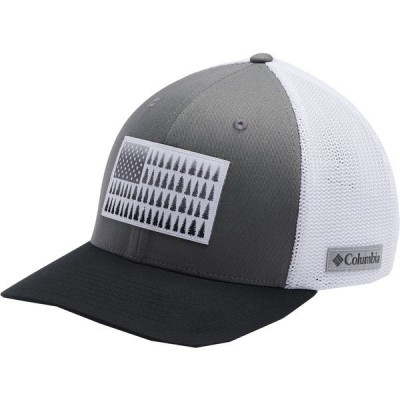 コロンビア 帽子 アクセサリー メンズ Columbia Men's Mesh Tree Flag Ball Cap Titanium/White/Black