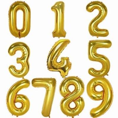 iWheat 風船 誕生日 飾り セット 数字バルーン バースデー パーティー 誕生日 飾り付け ウェディング 記念日 パーティーに ゴールド