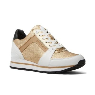 マイケルコース スニーカー シューズ レディース Billie Trainer Sneakers Pale Gold