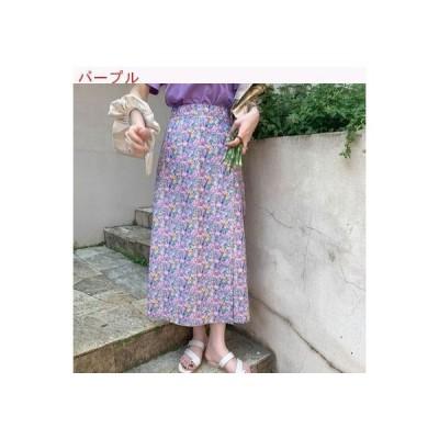 【送料無料】女 ハイウエスト 小花のスカート 夏 一 フィルム タイプ 調整可能 着 | 364331_A62753-3955606
