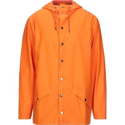 レインズ RAINS メンズ コート アウター full-length jacket Orange