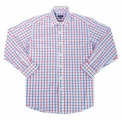 ファッション ドレス Club Room NEW Blue Mens Size 16 1/2 Gingham Classica Fit Dress Shirt