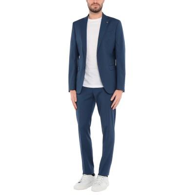 BARBATI スーツ ブルー 52 ポリエステル 60% / レーヨン 19% / ウール 19% / ポリウレタン 2% スーツ