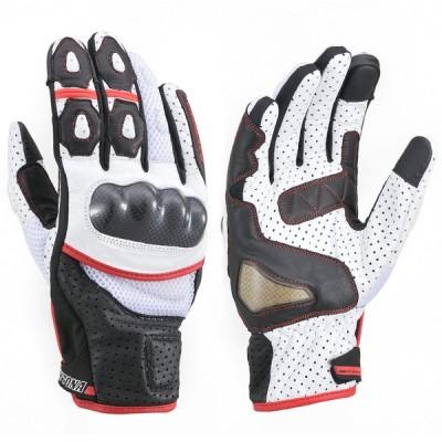 HBG-053 スポーツメッシュグローブ ブラック/ホワイト/レッド Mサイズ DAYTONA(デイトナ)