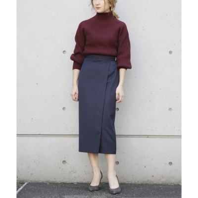 スカート T/W高密度トリコチンラップスカート