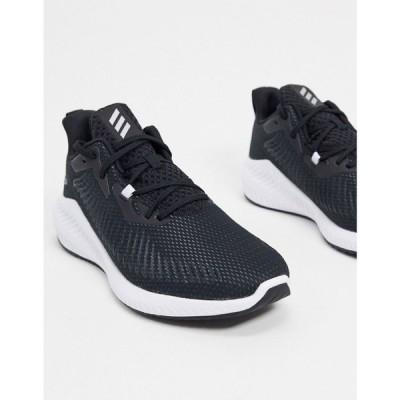 アディダス adidas performance メンズ スニーカー シューズ・靴 adidas alphabounce trainers in black ブラック