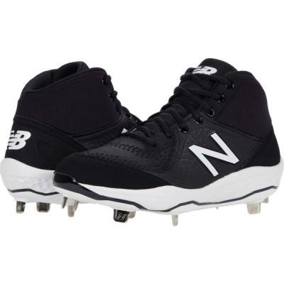 ニューバランス New Balance メンズ スニーカー シューズ・靴 Fresh Foam 3000v5 Mid-Cut Metal Black/White