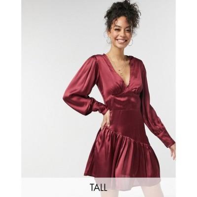 ヴァイオレット ロマンス Violet Romance Tall レディース ワンピース ミニ丈 ワンピース・ドレス satin mini dress