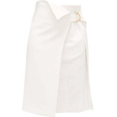 プロエンザ スクーラー Proenza Schouler レディース ひざ丈スカート ラップスカート スカート Asymmetric twill wrap skirt White