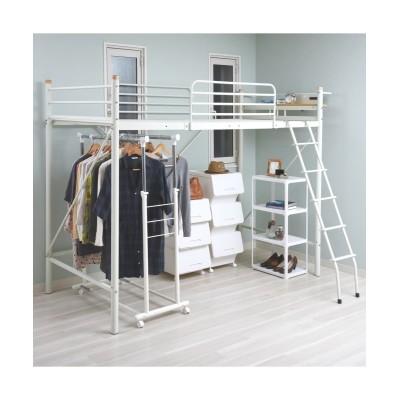 宮棚・コンセント付き太パイプロフトベッド ロフトベッド・2段ベッド, Beds(ニッセン、nissen)