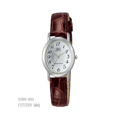 [送料無料・カード払・前払限定]シチズン腕時計CITIZEN Q&Q VZ89-304クオーツ腕時計 ★新品★デザインもシンプルなアナログ表示 2気圧防水【メール便】