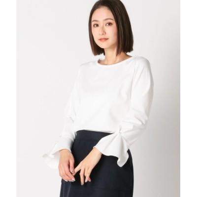 MEW'S REFINED CLOTHES / ウォッシャブルソデタックパールカットソー WOMEN トップス > Tシャツ/カットソー