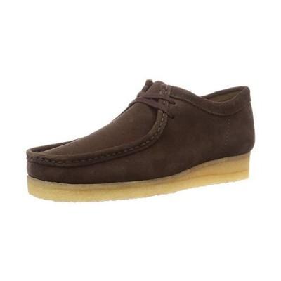 [クラークス] 本革 ブーツ ワラビー Wallabee ダークブラウンスエード 30 cm