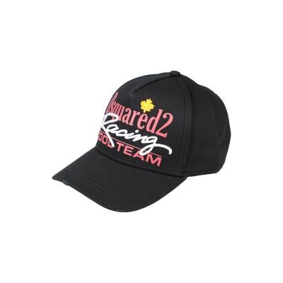 ディースクエアード DSQUARED2 帽子 ブラック one size コットン 100% 帽子