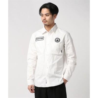 シャツ ブラウス HOMETOWN PATCH WORK L/S SHIRTS/スラッシャー ロゴ シャツ 長袖