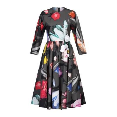 プラダ PRADA 7分丈ワンピース・ドレス 鉛色 38 コットン 100% / シルク 7分丈ワンピース・ドレス