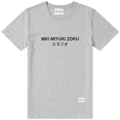 エムケーアイ MKI メンズ Tシャツ ロゴTシャツ トップス Classic Logo Tee Grey