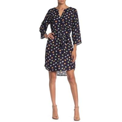 コレクティブコンセプツ レディース ワンピース トップス Tie Waist 3/4 Sleeve Dress NAVY