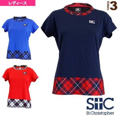 セントクリストファー テニス・バドミントンウェア(レディース)  タータン ウエストゲームシャツ/レディース(STC-BKW6213)