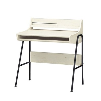 白井産業 ノート PC デスク 約 幅79 奥行51 高さ86 cm 机 テーブル ホワイト (PPR-8580DESKWH パソプリ)