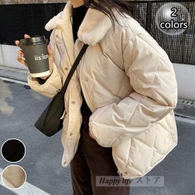 コート レディース 中綿コート ショート丈 コート防風 防寒 厚手  アウター 中綿  韓国風 ショート ジャケット 暖かい ゆったり 体型カバー  冬服