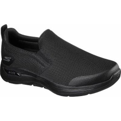 スケッチャーズ メンズ スニーカー シューズ Men's Skechers GOwalk Arch Fit Togpath Slip-On Black/Black