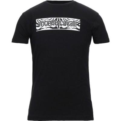 ロベルト カヴァリ ROBERTO CAVALLI メンズ Tシャツ トップス t-shirt Black