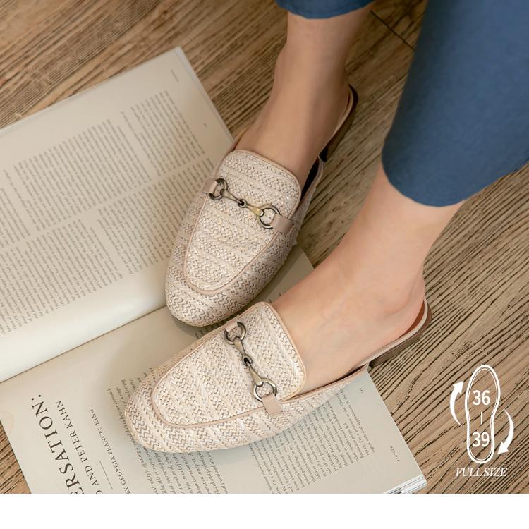 編織休閒穆勒鞋