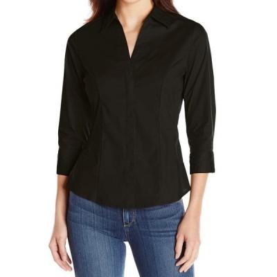 レディース 衣類 トップス Rider's by Lee NEW Midnight Black Womens Size XL Solid Button Down Shirt 966 ブラウス&シャツ