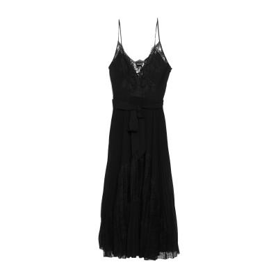 ERMANNO DI ERMANNO SCERVINO ロングワンピース&ドレス ブラック 40 ポリエステル 100% ロングワンピース&ドレス