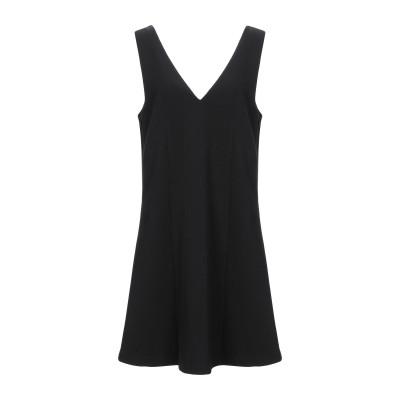 ツインセット シモーナ バルビエリ TWINSET ミニワンピース&ドレス ブラック 38 レーヨン 68% / ナイロン 28% / ポリウレタン