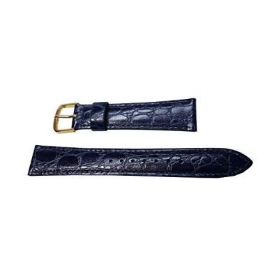 〔セイコー〕SEIKO 時計ベルト17mm DE90 牛革ワニ型押 青 メンズ 正規品