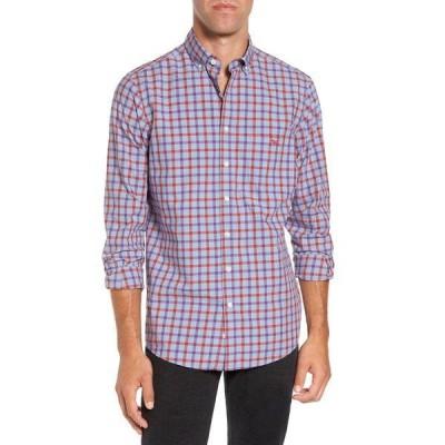 ロッドアンドガン メンズ シャツ トップス Codfish Island Plaid Print Sports Fit Shirt BERRY