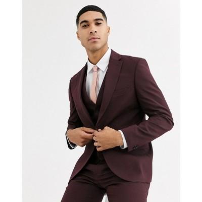ルーディー RUDIE メンズ スーツ・ジャケット アウター Rudie plain skinny fit suit jacket レッド