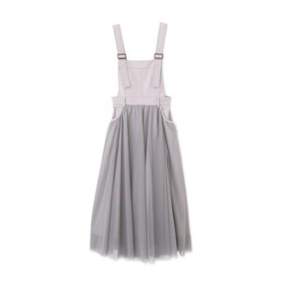 ◆チュール切替サロペットスカート