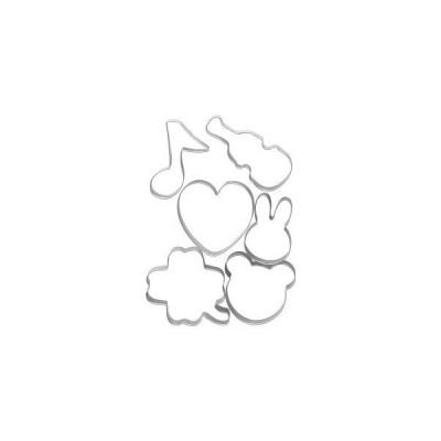 【メール便選択可】貝印 ホームメイドで楽しさひろがるクッキー抜き型 クマ ウサギ6点セット DL-6428 Kai House SELECT