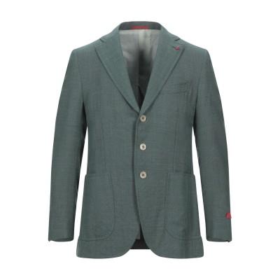 イザイア ISAIA テーラードジャケット グリーン 54 ウール 96% / シルク 4% テーラードジャケット