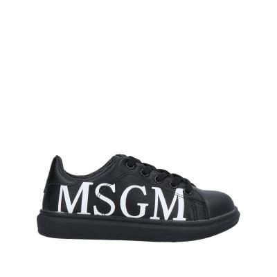 エムエスジーエム MSGM スニーカー&テニスシューズ(ローカット) ブラック 33 紡績繊維 スニーカー&テニスシューズ(ローカット)