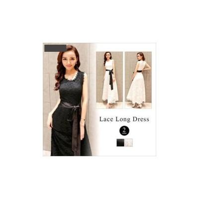 ドレス 花柄 大人 レース 結婚式 fe-0071