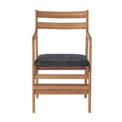 オーク材の座面可動式チェア ナチュラル