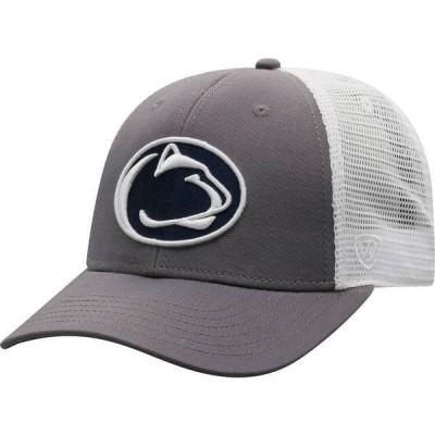 トップオブザワールド メンズ 帽子 アクセサリー Top of the World Men's Penn State Nittany Lions Grey/White BB Two-Tone Adjustable Hat