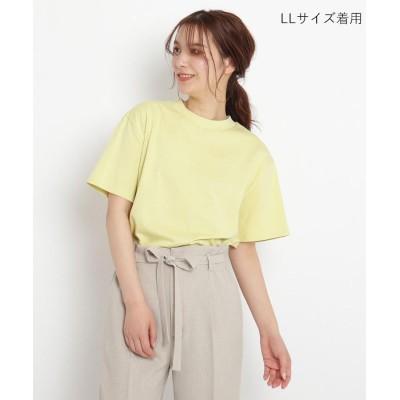 grove(グローブ) 洗える/UV/抗菌防臭【SS-3L】ギザコットンモックネックシンプルTシャツ