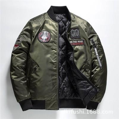 メンズミリタリージャケットMA-1フライトジャケットリバーシブルジャケット軍物エンブレムミリタリーワッペンMA1カッコイイ