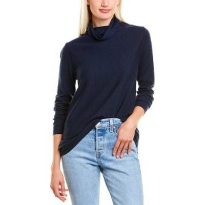 フォートカシミア レディース ニット&セーター アウター Forte Cashmere Fine Gauge Cashmere Sweater navy