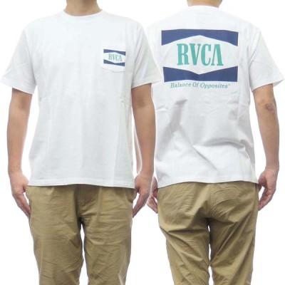 RVCA ルーカ メンズクルーネックTシャツ OPEN RANGE TEE / BB041-204 ホワイト