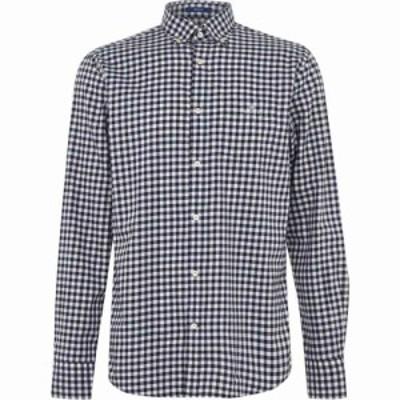 ガント Gant メンズ シャツ トップス Buffalo Gingham Shirt White