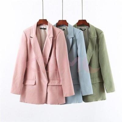 テーラードジャケット レディース スーツジャケット 無地 ゆったり OL アウター フォーマル ジャケット スーツ 上着 通勤 ビジネス セレモニー 20代 30代