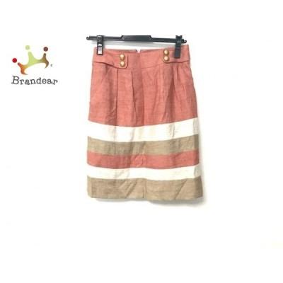 ジャスグリッティー スカート サイズ0 XS レディース 美品 ピンク×アイボリー×ベージュ   スペシャル特価 20200617