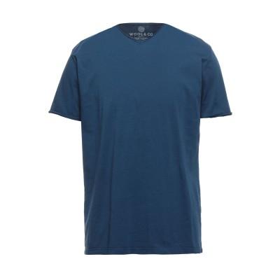 WOOL & CO T シャツ ブルーグレー XXL コットン 100% T シャツ